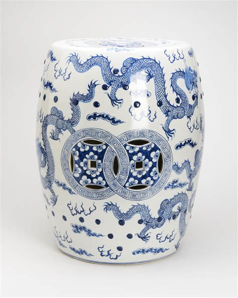 white garden stool blue and white garden stool the pink pagoda blue and