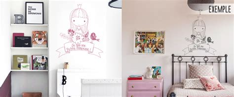 tickers chambre fille princesse stickers muraux chambre fille je suis une princesse