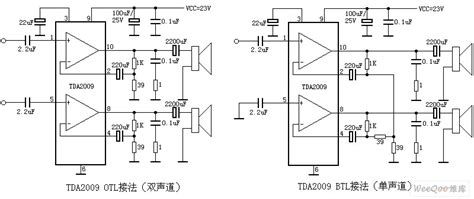 tda mono  stereo audio power amplifier circuit
