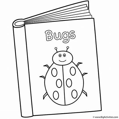 Coloring Pages Books 100th Bugs Bookworm Printable