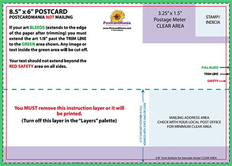 Jumbo Postcard Template by Postcard Design And Mailing Free Templates 4 215 6 5 215 7 6
