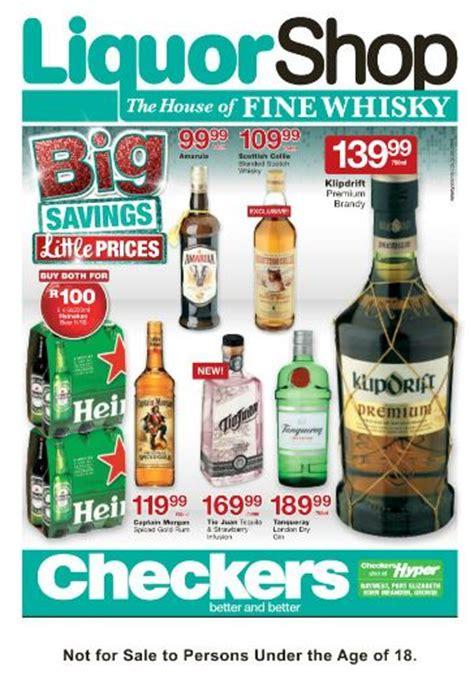 eastern cape checkers liquorshop specials  jul