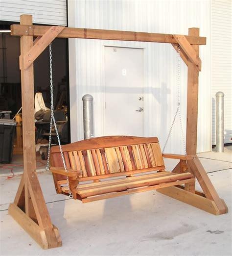 diy freestanding porch swing free pdf woodworking