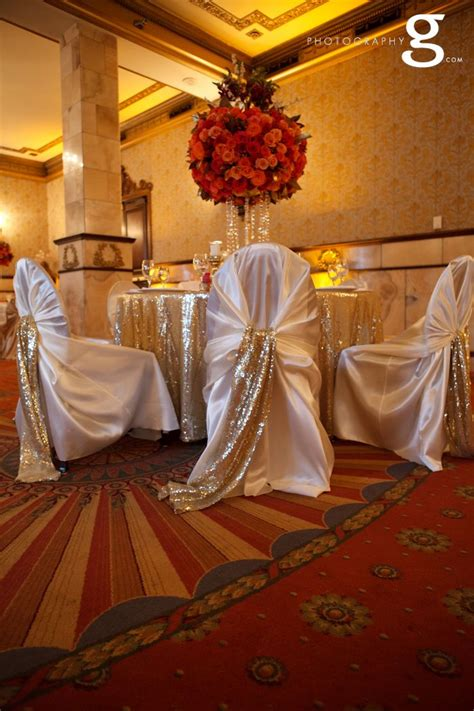 ivory chair covers gold sequin chair sash soft gold
