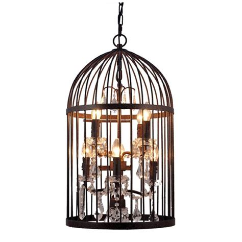bronze eight light birdcage chandelier by cowshed