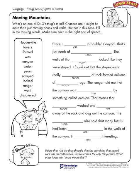 Weathering And Erosion Worksheets For Kids The Best Worksheets Image Collection  Download And