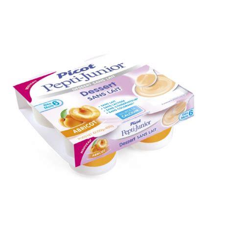 picot pepti junior dessert sans lait d 232 s 6 mois 4x100g abricot pharma2m