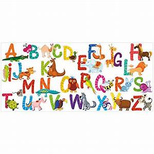 26 individual alphabet animals self adhesive wall art for Adhesive wall art letters