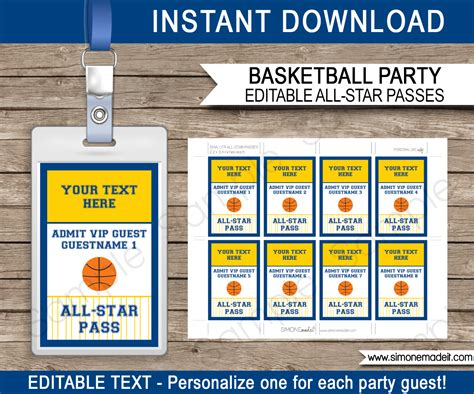 navyyellow basketball printables invitations decorations
