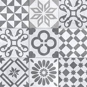 panneau de douche decoratif carreau de ciment gris With carreau de ciment gris