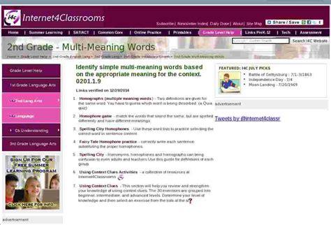 multi meaning words language  grade english language