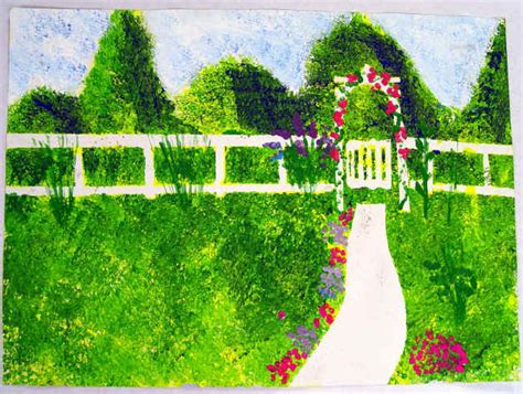 Monet's Garden Sponge Painting