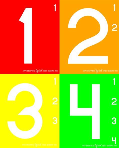 teach numbers free printable activity preschool 575 | 1 4