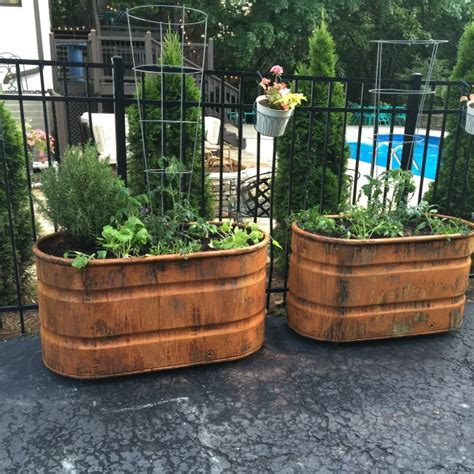 copper patina and rust container gardens tucker