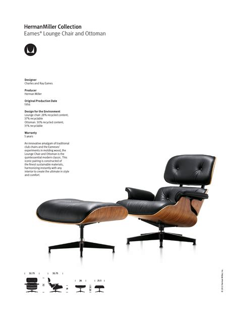 Herman Miller Eames Lounge Chair And Ottoman by Herman Miller Eames Lounge Chair And Ottoman Product