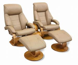 Mac Motion Double Euro Recliner And Ottoman Set In Sand