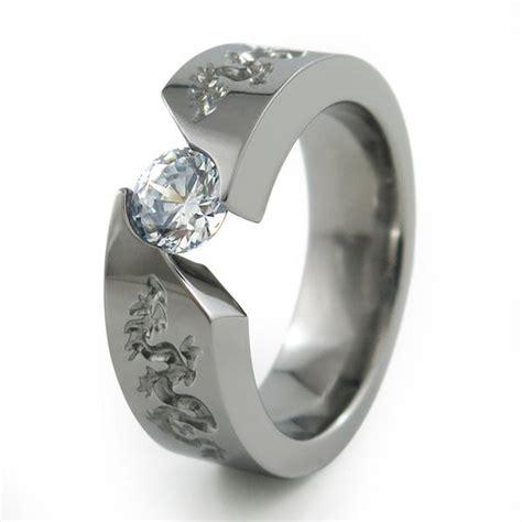 samsara dragon tension set titanium ring titanium rings