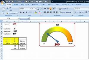 image gallery excel speedometer With excel speedometer template download