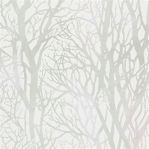 creation tree branches wallpaper feature wall grey