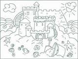 Coloring Sand Pages Castle Sandcastles Nicole Sheets Sea Summer Sandcastle Printable Preschool Sheet Activity Area Circumference Arcs Fun Letscolorit Guardado sketch template