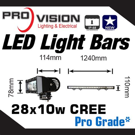 pro grade led work light bar 280w 50 inch 10w cree led s