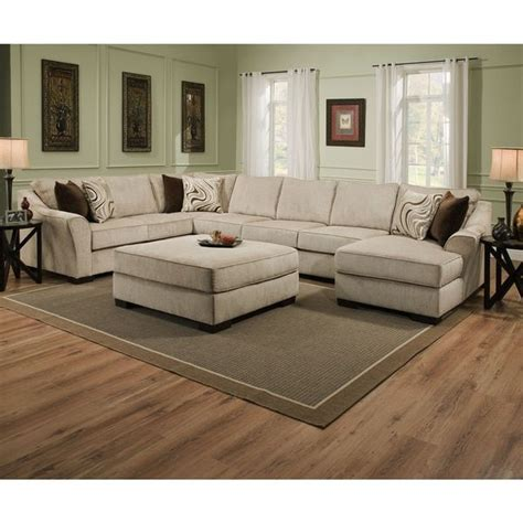 Best Deals On Ottomans by Simmons Upholstery Kingsley Beige Large Sectional And