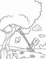 Coloring Swing Boy Pages Printable Swinging Little Lente Kinderen A4 Arrived Spring Print Categories Colorings Kleurplaat Getdrawings Getcolorings Zo Kleurplaten sketch template