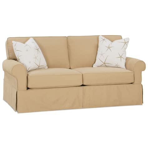 Rowe Dorset Sleeper Sofa by Rowe Nantucket Transitional Sleeper Sofa With Skirted Base