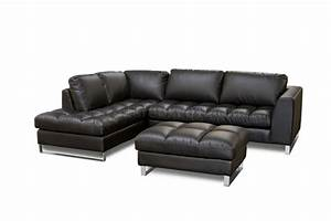Mocca top grain leather modern zen sectional sofa w options for Zen sectional sofa