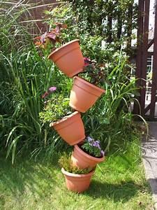 15, Wonderfull, Diy, Stacked, Flower, Pots