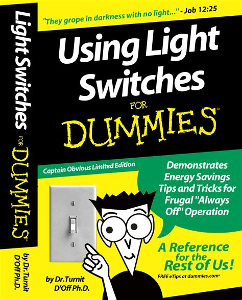 For Dummies by Cigarbox Light Switch Cover For Dummies Design