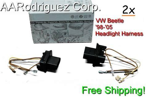 2000 Vw Beetle Wiring Harnes by 2 Pack 1998 2005 Vw Volkswagen New Beetle Headlight Wiring