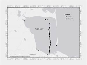Map Of Argo Bay Sampling Effort From July