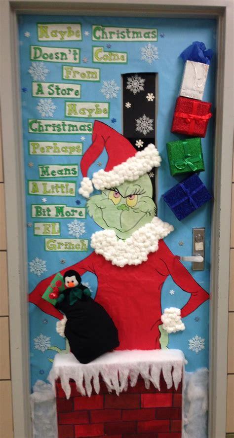 christmas classroom door ideas  pinterest