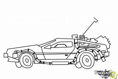 Draw Delorean Future Drawing Machine Coloring Drawings