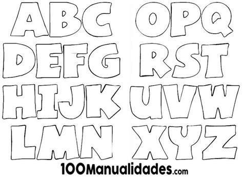 moldes de letras may 250 sculas grandes para imprimir y recortar manualidades