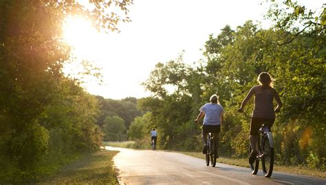 bicycling forest preserves  cook county