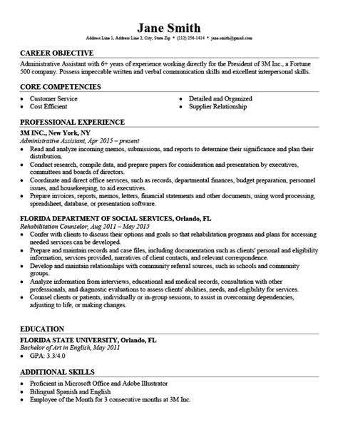 Template Professional Resume by Professional Resume Templates Free Resume Genius