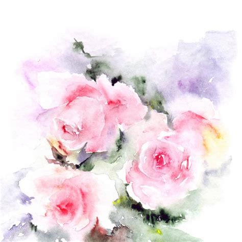 floral background watercolor pink flowers floral border
