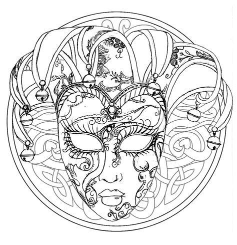 mandala venice carnival mask mandalas coloring pages for adults justcolor