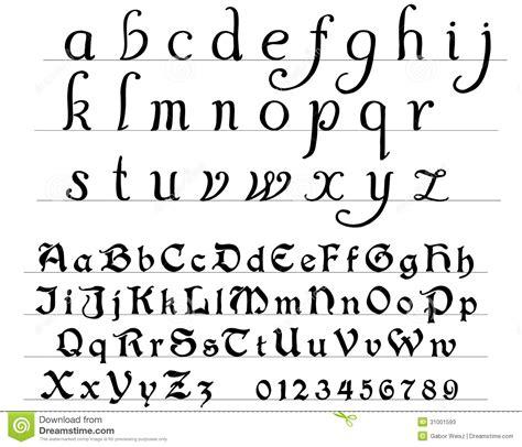 chambre gothique alphabet médiéval photos stock image 31001593