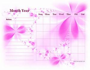 Word Document Template Download Monthly Blank Calendar In Purple Shade Free Printable