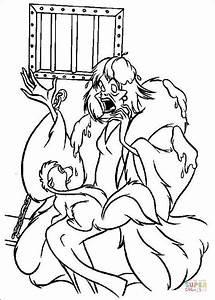 Cruella De Vil And Polecat Coloring Page Free Printable