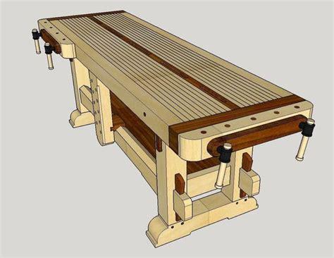 sketchup  woodworking design  samurai workbench