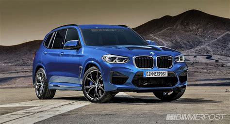 New Bmw X3 M And X4 M Rendered Without Camo Look Credible