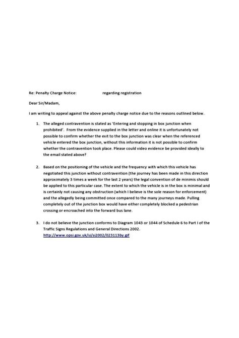 parking ticket appeal letter  sampletemplatess