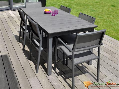 barrière aluminium jardin salon de jardin en aluminium et composite watson sur