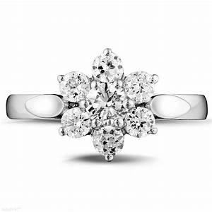 bagues de fiancailles diamant or blanc 100 carat With chambre bébé design avec bague fleur saphir