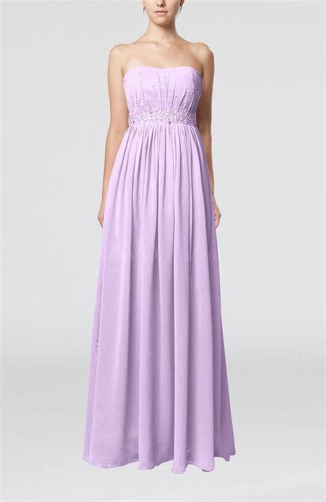 light purple gown light purple strapless sleeveless chiffon sequin