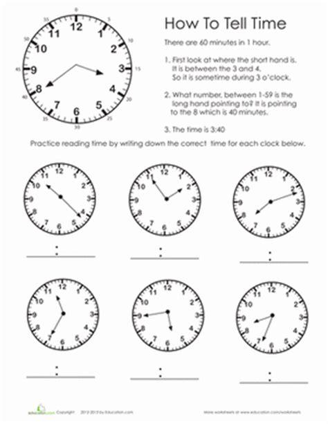 practice test telling time worksheet education